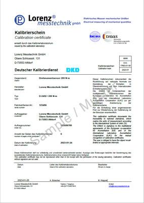 Dakks calibration laboratory for torque sensors d k 17603 01 00 dakks calibration certificate yadclub Images
