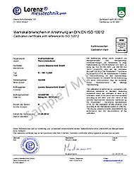 Calibration of force sensors and force measuring chains sample proprietary calibration certificate yadclub Choice Image