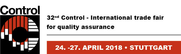 Control 2018, April 24th - 27th, 2018 in Stuttgart, Germany - We exhibit! Hall 6, Stand 6116